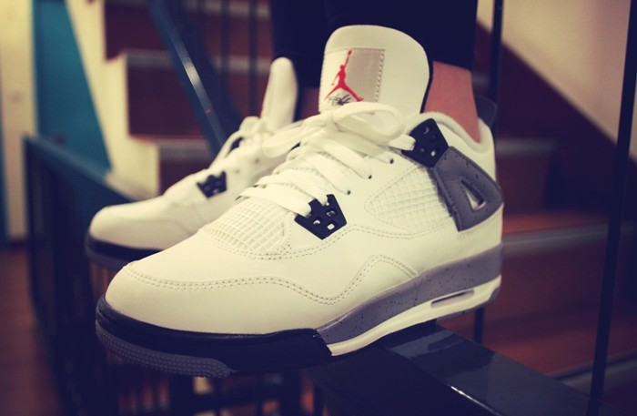 Jordan 4 White Cement Women