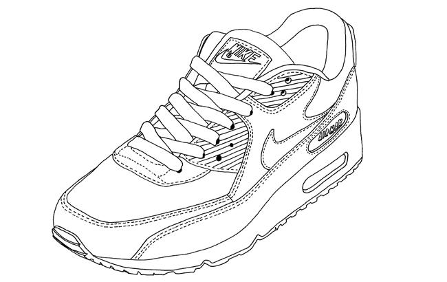 Comment dessiner des sneakers - Dessin basket ...