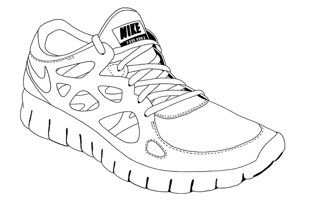 chaussure nike dessin