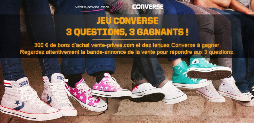 concours converse sur vente privee com special modespecial mode. Black Bedroom Furniture Sets. Home Design Ideas