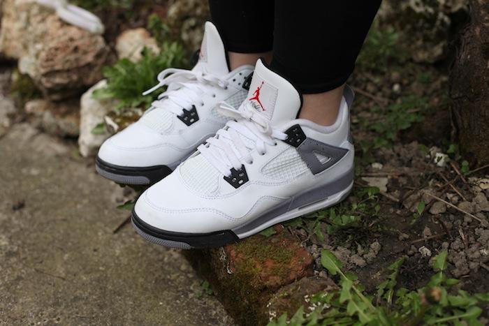 Air Jordan 4 Cement White