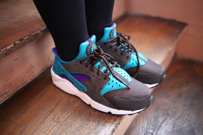 sneakers nike huarache bright teal size exclu uglymely 1