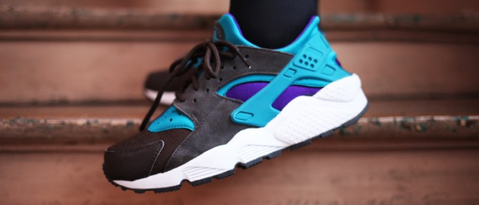 sneakers nike huarache bright teal size exclu uglymely 2