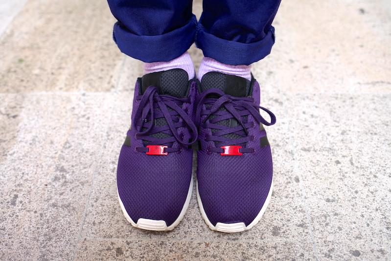 sneakers adidas zx flux purple uglymely 1