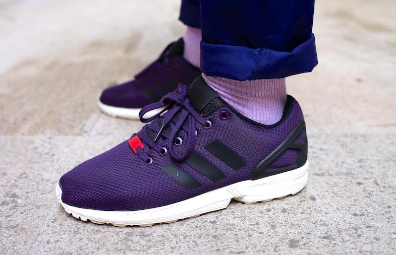 sneakers adidas zx flux purple uglymely