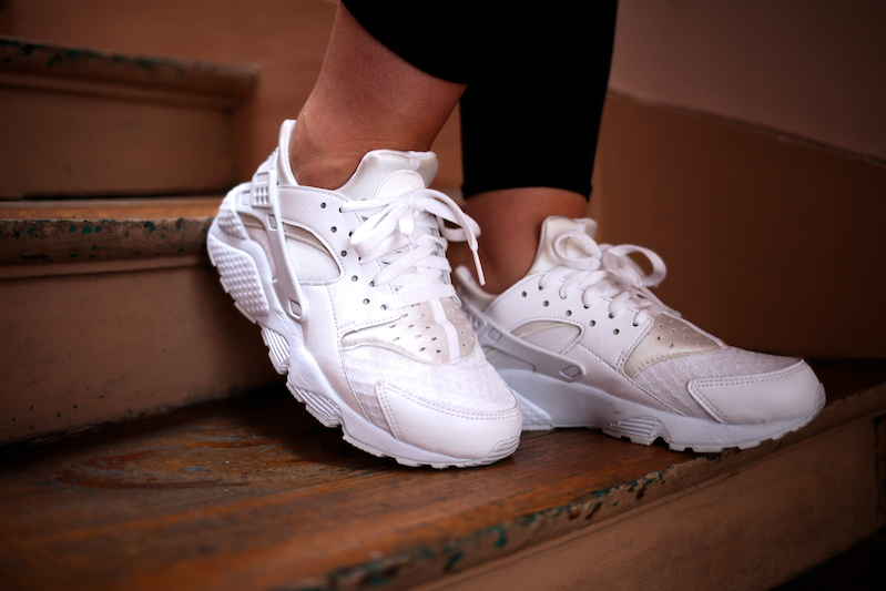 nike huarache triple white collection footlocker uglymely 2