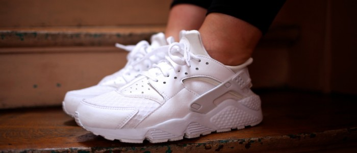 nike huarache triple white collection footlocker uglymely 3