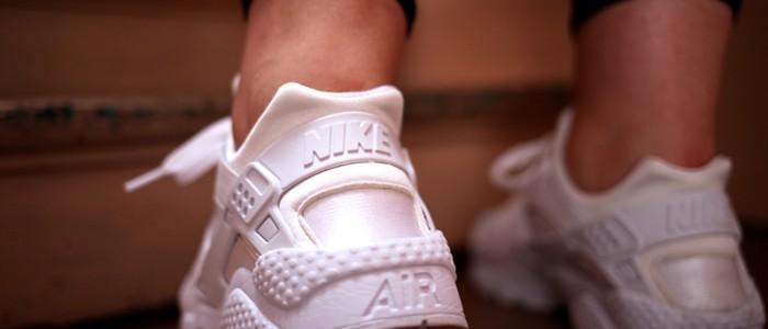 nike huarache triple white collection footlocker uglymely