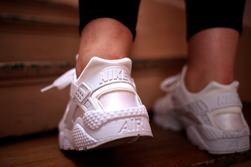 nike huarache triple white collection footlocker uglymely