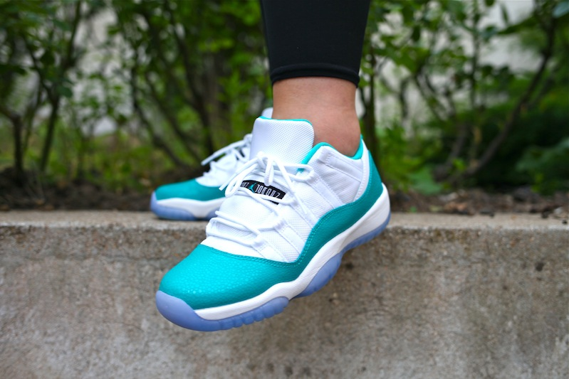 air jordan 11 low aqua safari