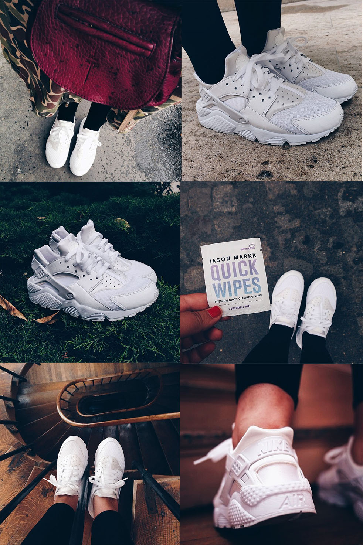 Nike Huarache Femme blanche