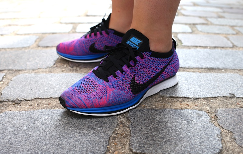 nike flyknit racer purple uglymely � sneakers street