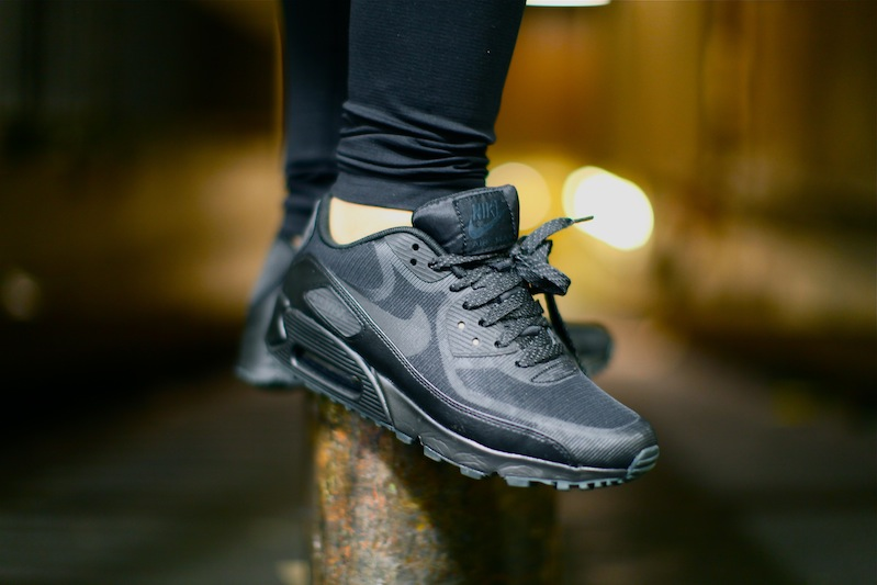 nike air max 90 premium tape all black 3m uglymely 3
