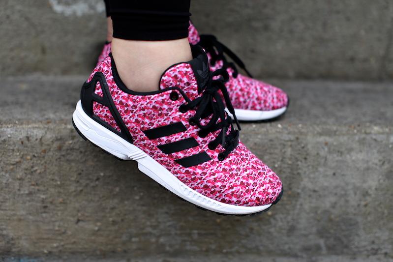adidas mizxflux zxflux bape  camo pink uglymely 2